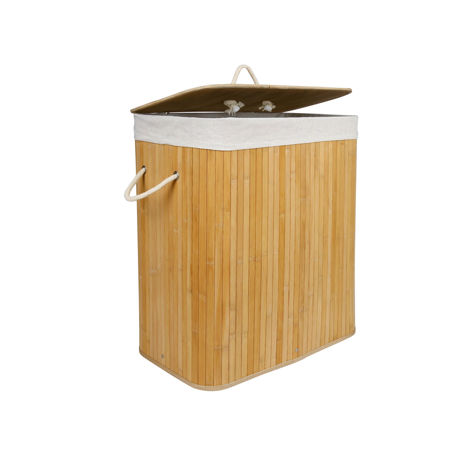 panier linge corbeille en bambou pliable bac linge sac. Black Bedroom Furniture Sets. Home Design Ideas