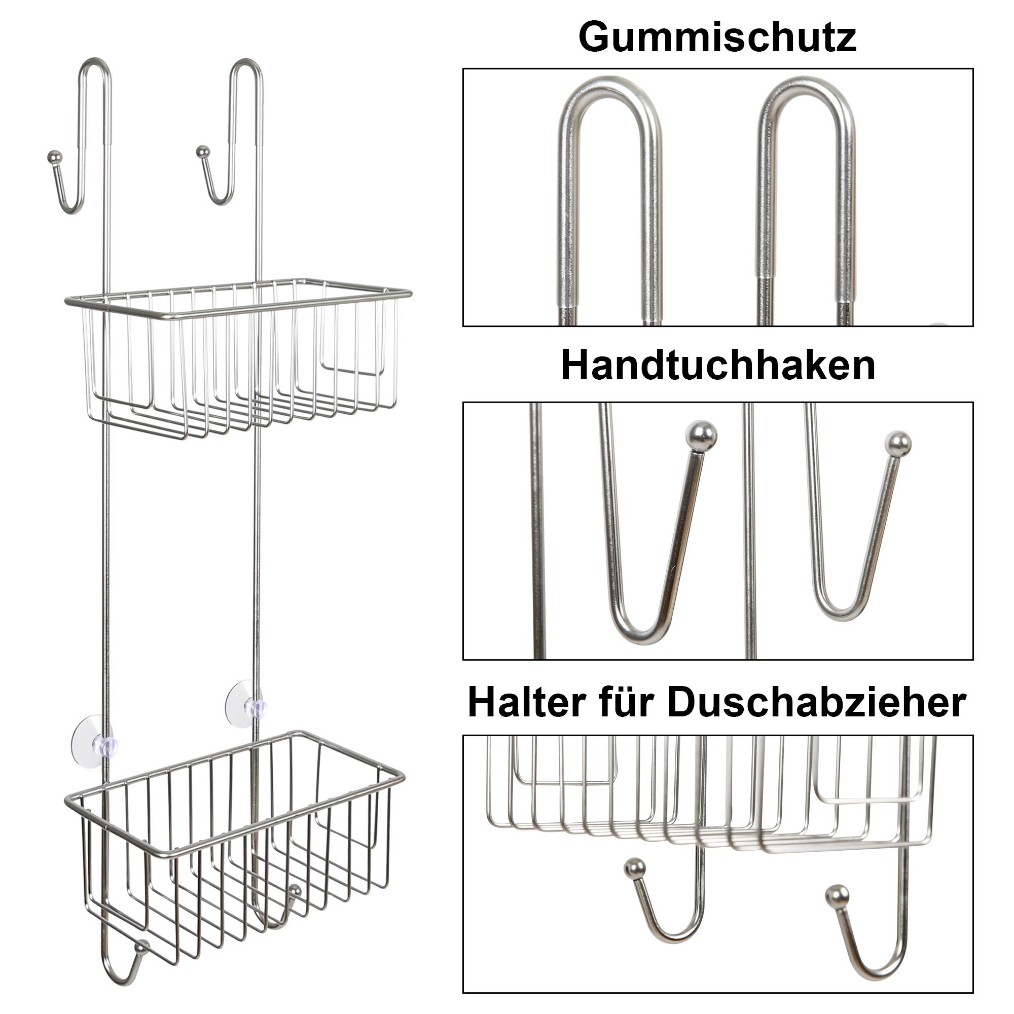 Indexbild 9 - Duschregal Duschablage ohne Bohren Edelstahl Badregal Hängen Duschkorb 2 3 Körbe